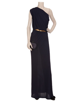 Versus velvet dress with leather straps also available at browns